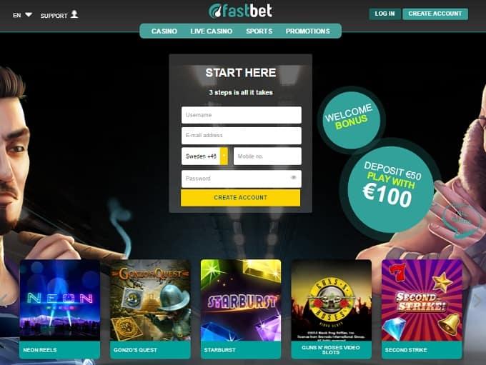 Fastbet casino hp dashboard login