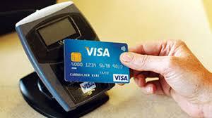 visa card and reader